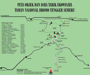 Peta Rute Jalur Gunung Bromo Jawa Timur