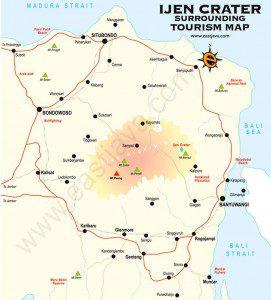 Peta Jalur Dan Rute Ke Lokasi Kawah Ijen
