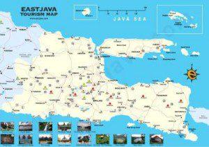Peta Lokasi Daftar Tempat Objek Wisata Alam Di Jawa Timur
