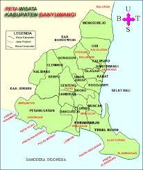 Peta Lokasi Objek Wisata Banyuwangi