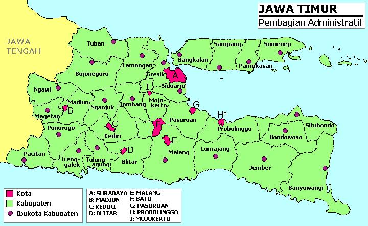 Peta Wilayah Jawa Timur
